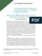 La Esperanza en La Experiencia de Sufrimiento Humano
