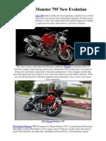 2012 Ducati Monster 795 New Evolution