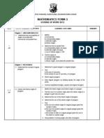 Scheme of Work Math F3