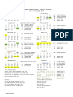 2011 2012 School Calendar Approved January 31 2011