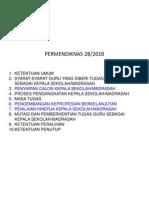 PERMENDIKNAS-28-2010