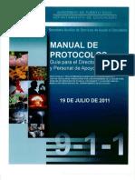 MANUAL DE PROTOCOLOS Guía para el Director Escolar y Personal de Apoyo
