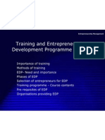 trainingandentrepreneurshipdevelopmentprogrammeinindia-110223223513-phpapp01
