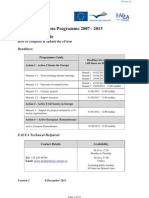 Europe for Citizens Eform 2012 User Guide Version 1