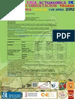 Programa 4ª Prueba Liga Autonomica 2012