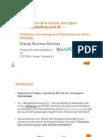 Solution Management port 25 - Architecture BALs hébergées_FR_v2.1.pps [Mode de compatibilité]