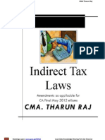 Book on Indirect Tax Law Amendments for CA Final May 2012 exams, order now to enjoy passing