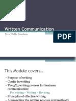 3 Written Communication