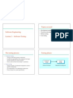 Lecture3 Software Testing