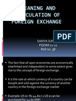 Meaning and Calculation of Foreign Exchange by Sanya Juneja Pgdim 11-12