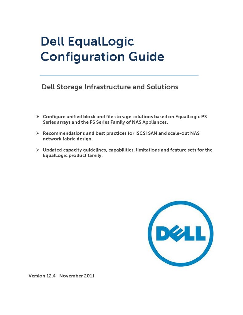 Dell Equal Logic Configuration Guide | Computer Networking | Computer  Architecture