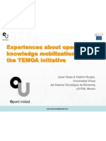 Experiences about open knowledge mobilization and the TEMOA initiative