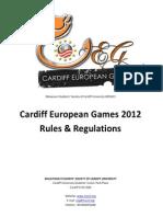CEG 2012 Rules & Regulations