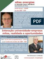 Palestra de março no Instituto de Estudos Avançados - Polo Ribeirão Preto