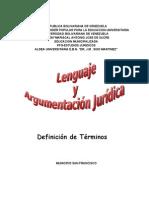 Definiciones Element Ales en El Lenguaje y La Argumentacion Juridica