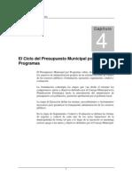 El Ciclo Del Presupuesto Municipal Por Programas