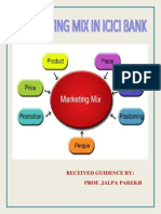 Marketing Mix in ICICI Bank