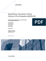 Quantifying Uncertainty in Early Lifecycle Cost Estimation (QUELCE)