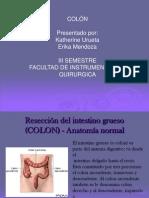 Procedimientos quirúrgicos en colon