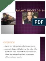 Railway Budget 2012-13