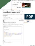 Como Hago Para Habilitar Un Textbox Con Un Radio Button e Insertar a Mi BD - Foros Del Web