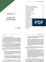 Cuaderno I_La Lengua Como Sistema de Signos