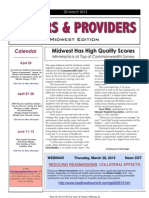 Payers & Providers Midwest Edition – Issue of March 20, 2012