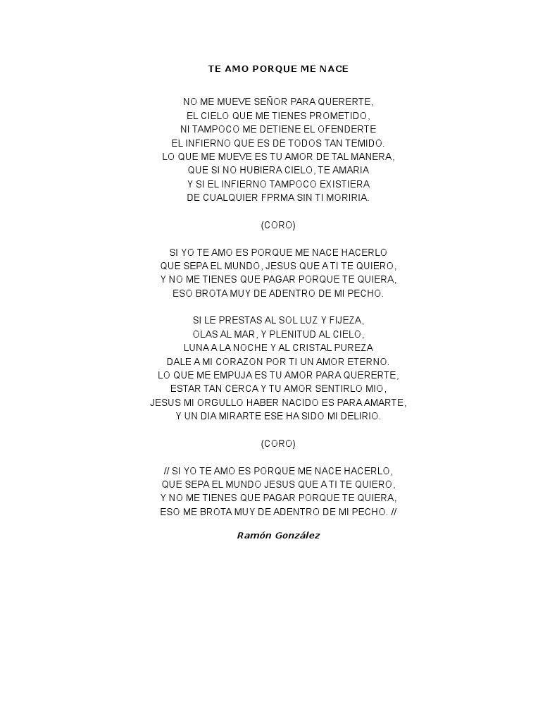 Letra Te Amo