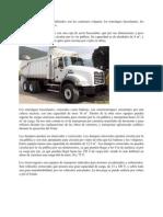 Los principales vehículos utilizados son los camiones