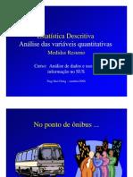 a Descritiva Analise Das Variaveis Quantitativas