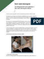 Aprenda a Fazer Auto-massagem