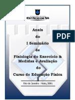 ANAIS I SEMINÁRIO DE FISIOLOGIA - UNIV. ESTÁCIO DE SÁ