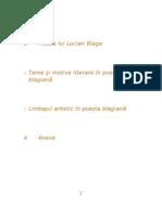 Poezia Lui Lucian Blaga Final1