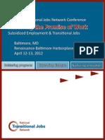 NTJN, 2012 Conference Agenda, DRAFT