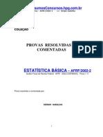 Estatística Básica - Sérgio Gadelha - Provas Resolvidas E Comentadas