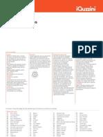 Tabela iGuzzini 2012