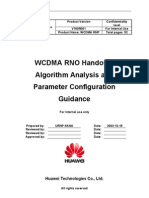 WCDMA RNO Handover Algorithm Analysis and Parameter Configurtaion Guidance-20050316-A-1.0