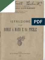 Istruzione Sulle Bombe a Mano e Da Fucile 1917