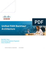 Unified RAN Backhaul Architecture