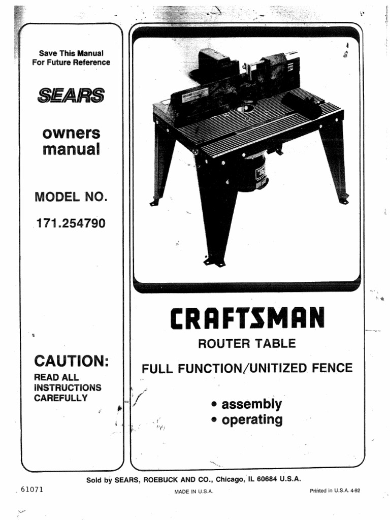 Sears router table 925479 nut hardware screw keyboard keysfo Choice Image