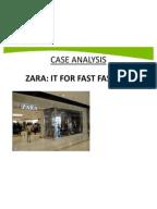 Zara fast fashion case study summary