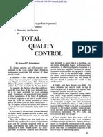 TQC - Total Quality Control (1956, Harvard Business Review, 9p) - Feigenbaum Armand V.
