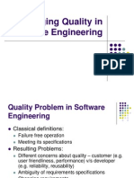 Managing Quality in Software Engineering