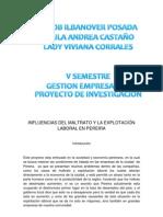 Influencias Del Maltrato y La Explotacion Laboral en Pereira