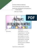 Informe Practica 2 Uso Del Material Volumetrico