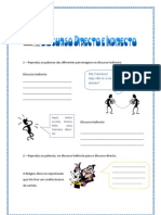 Discurso directo e Indirecto - exercícios (blog7 10-11)