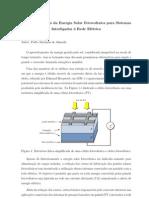 Condicionamento Da Energia Solar Fotovoltaica