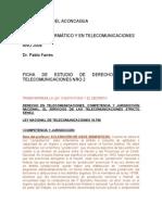 Ficha de Estudio de Derecho Ing en Telecomunicaciones Nro 2