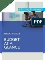 2012-2013 Quebec Budget at a Glance