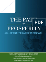 Republican Budget Proposal Path to Prosperity 2013
